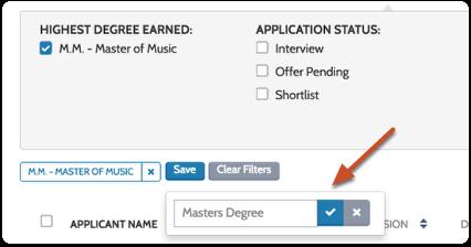 Enter a name and click the check mark