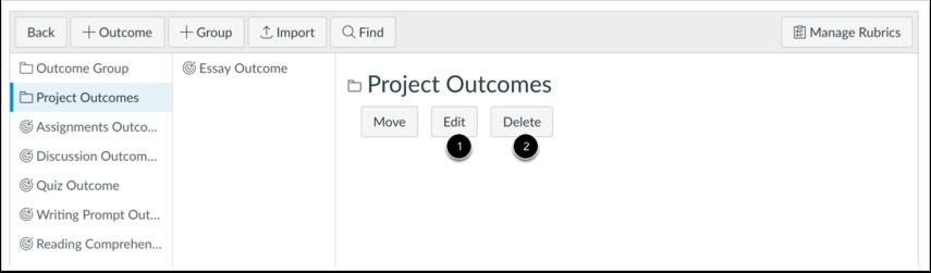 Modify Outcome Group