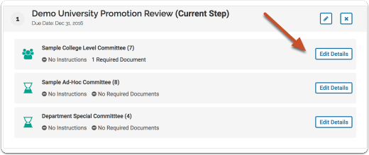 You can also add or edit instructions for a committee in a template