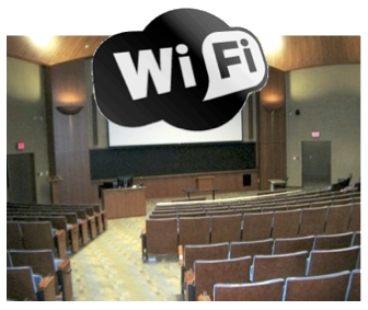 Reserve Auditoria or Classrooms with Upgraded Wireless Coverage.