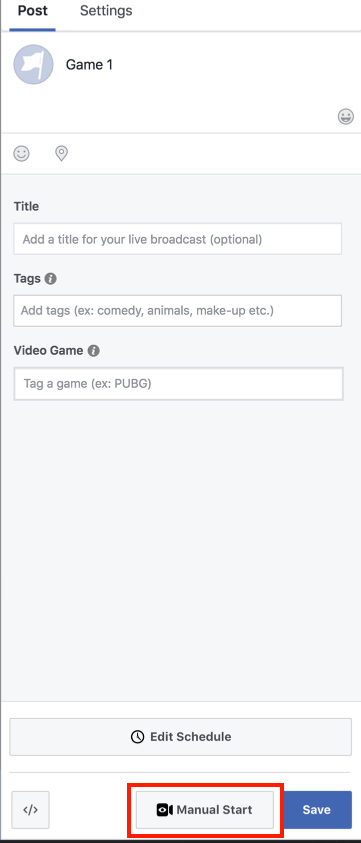 Stream to a Scheduled Live Post on Facebook via Livestream Studio