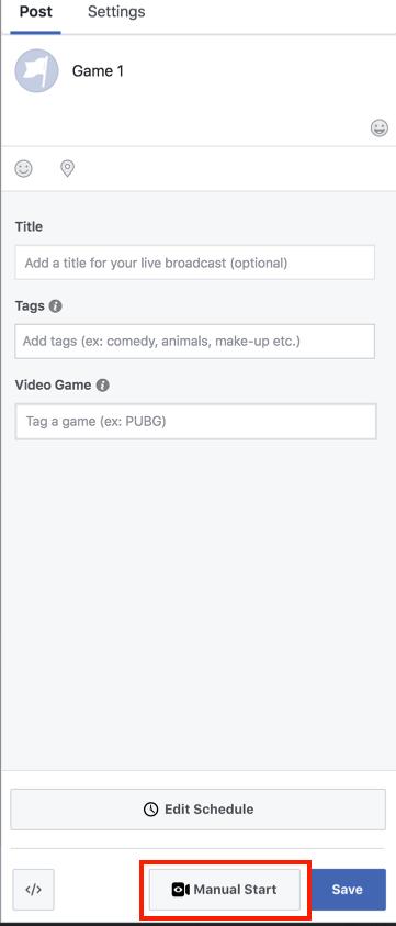 Stream to a Scheduled Live Post on Facebook via Livestream Studio
