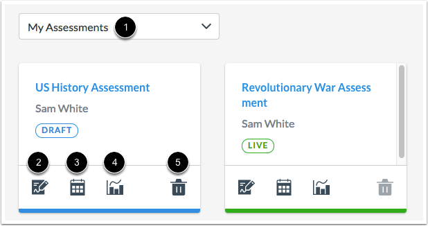 Manage Assessments
