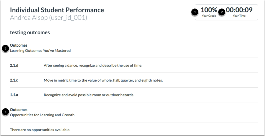 View Individual Student Performance