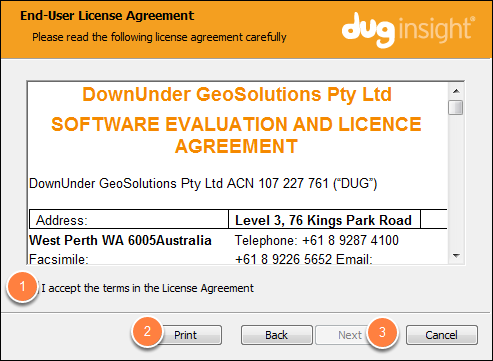 Read and accept the Licence Agreement