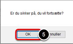 Alt efter hvilken browser du bruger kan der komme en advarsel: