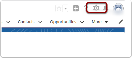 Select the Cog symbol on the RHS of your Salesforce home screen. (In Classic, click 'Setup' on the top RHS.)