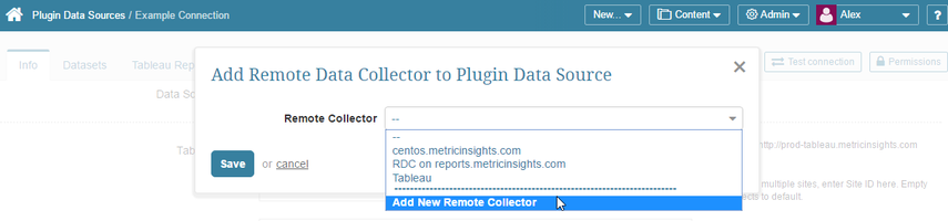 Select to Add a new Remote Collector from pop-up