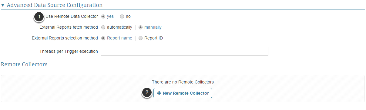 Now setup your Remote Data Collector