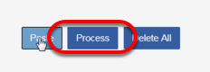 Once you see your data in the grid, click on the PROCESS BUTTON.