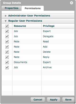 Regular User Permissions