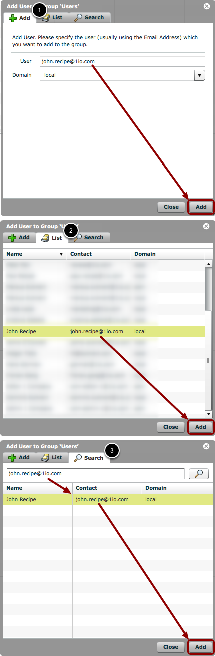 Add the existing User to the new User Group
