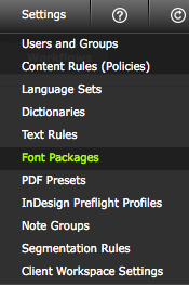 Click 'Font Packages'