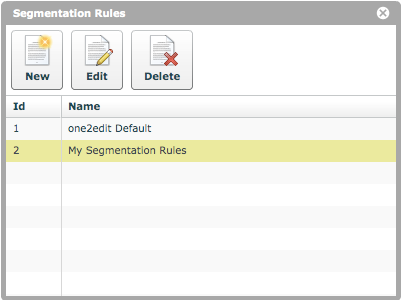 New segmentation rules created