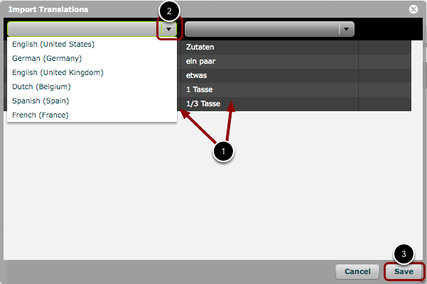Step 5: Assign Languages and import Translations