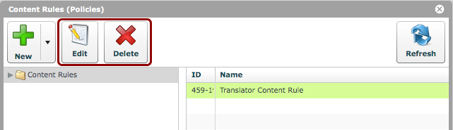 Edit/Delete Content Rules