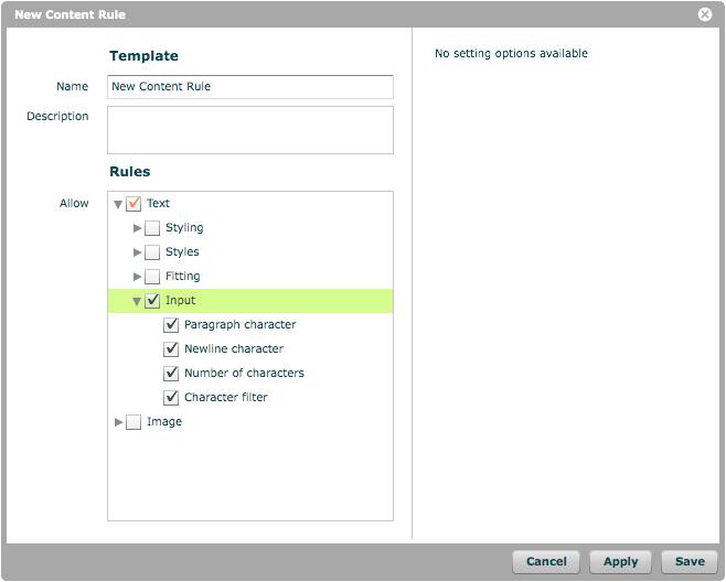 Text Input options