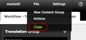 Click 'File > Close'