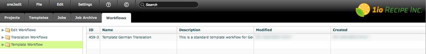 Open new workflow