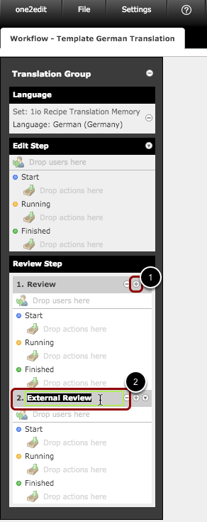Add and rename required workflow steps