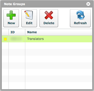 Note Group has been created