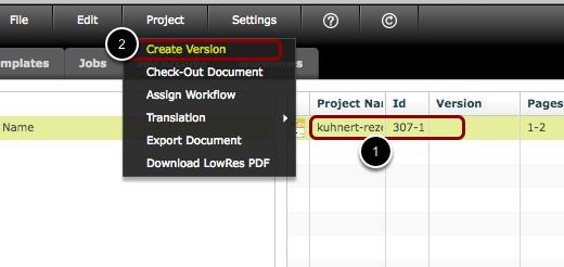 Create a Version Document