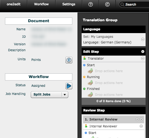 Workflow assigned from Template