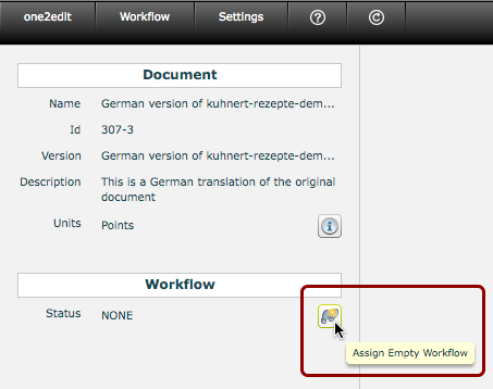 Assign an Empty Workflow