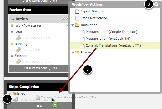 Assign Actions to the Workflow