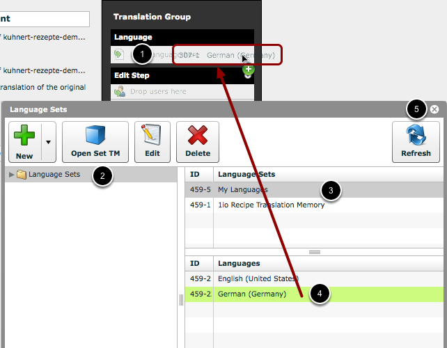 Set the Target Language for the Workflow Track