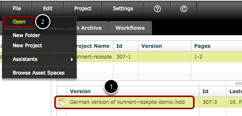 Open the Workflow View