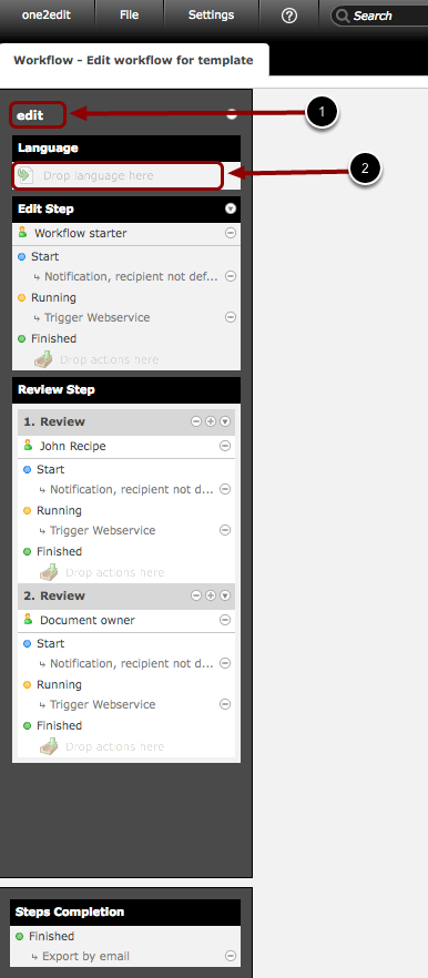 Workflow Template: Check the name and type of the Content Group in the Workflow Template(s)