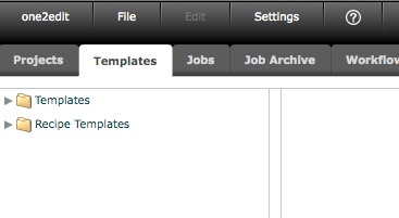 Step 1: Browse to the 'Templates' tab