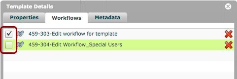 NOTE: Checkbox beside workflow