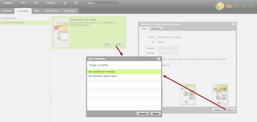 NOTE: Availability of multiple workflows