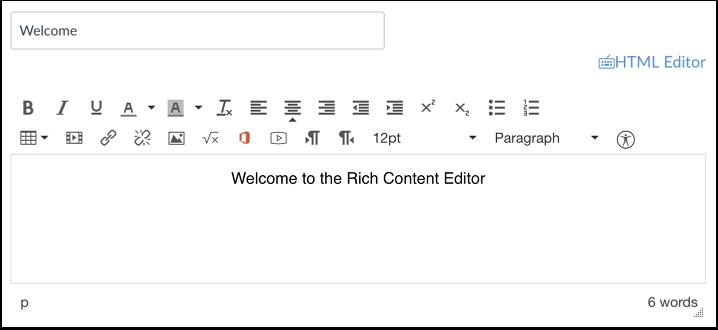 Abrir editor de contenido enriquecido