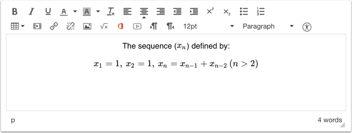 Add Text to Equations