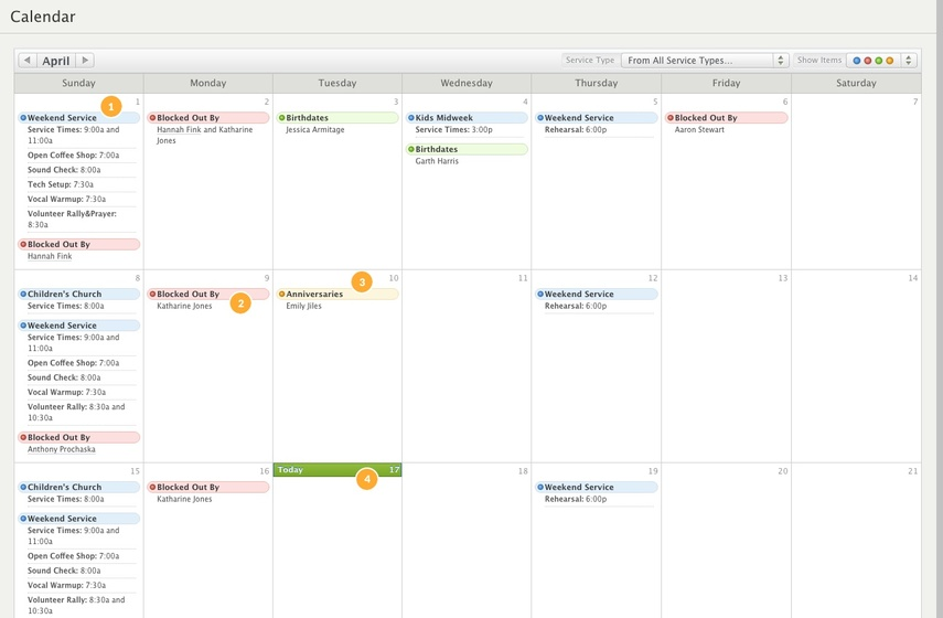 Larger Calendar View