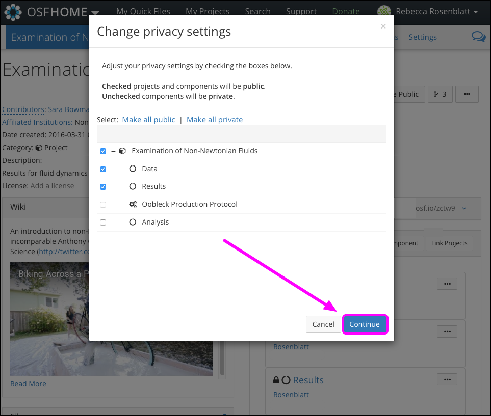 """The """"Change privacy settings"""" Modal"""
