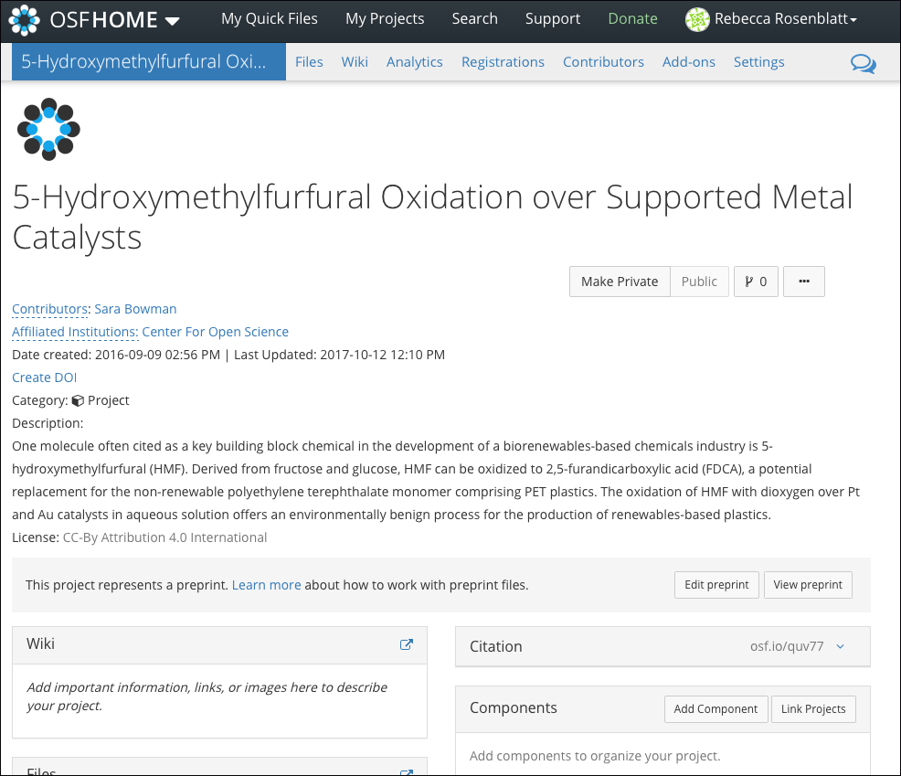 Your Preprint OSF Project