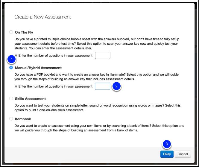 creating a manual assessment illuminate education