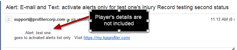 "#5: Player's details do not appear when ""Append with Players Details"" is not ticked (also note there is no pdf with this e-mail alert)"