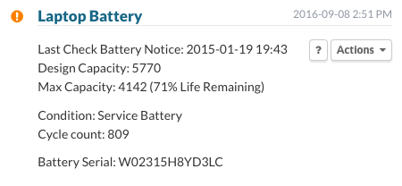 Laptop Battery > Service Battery