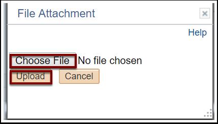 File Attachment section