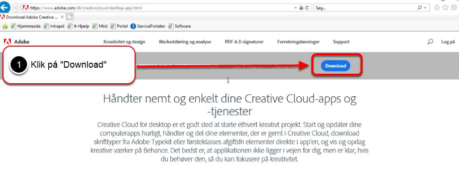 Log på med dit Adobe ID