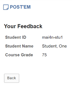 View your feedback.