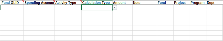 Initial client distribution information (that requires special handling) is uploaded on the Spending Exceptions tab of the Data Load Template. Only funds that have split distributions, donor directed reinvestment, or special exceptions (such as fixed amount rules) should be listed on the spending exceptions tab.