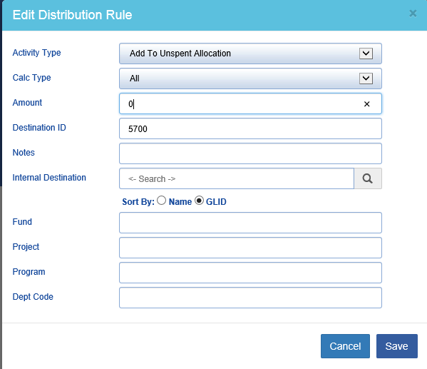 Example 6: How to retain the entire distributed amount as undistributed income