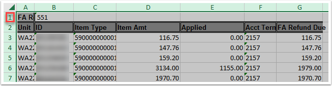 Refund results spreadsheet example