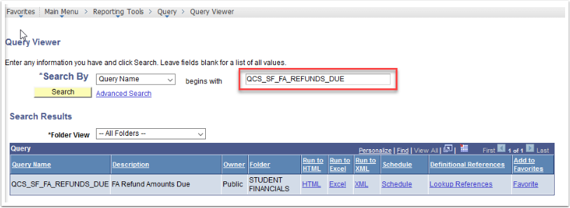 Query Viewer page